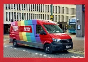 Details about Photo - Parcelforce GC18CPO - 2018 VW Crafter Van - Pride  Rainbow - Birmingham