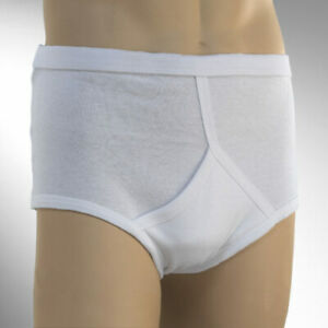3 Pairs Mens Y Fronts Interlock Cotton Briefs Underpants Slips Pants Underwear