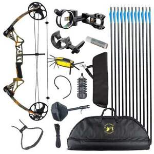 TOPOINT M1 20-70LB COMPOUND BOW & ARROW HUNTING TARGET ARCHERY CNC