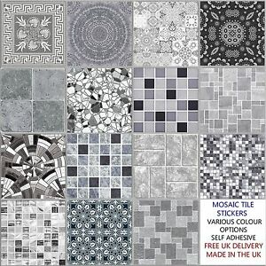 Grey 6 Inch Tile Stickers Various Design Decal Transfer