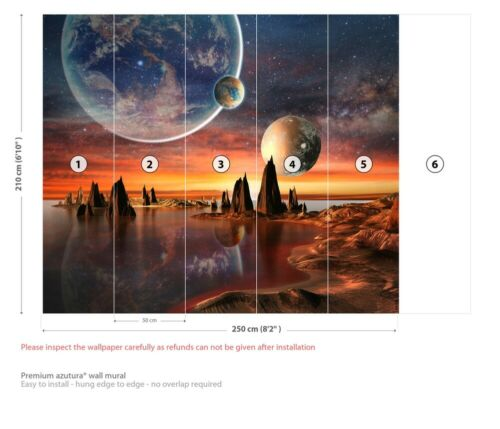 Alien Landscape Wall Mural Wallpaper WS-42539