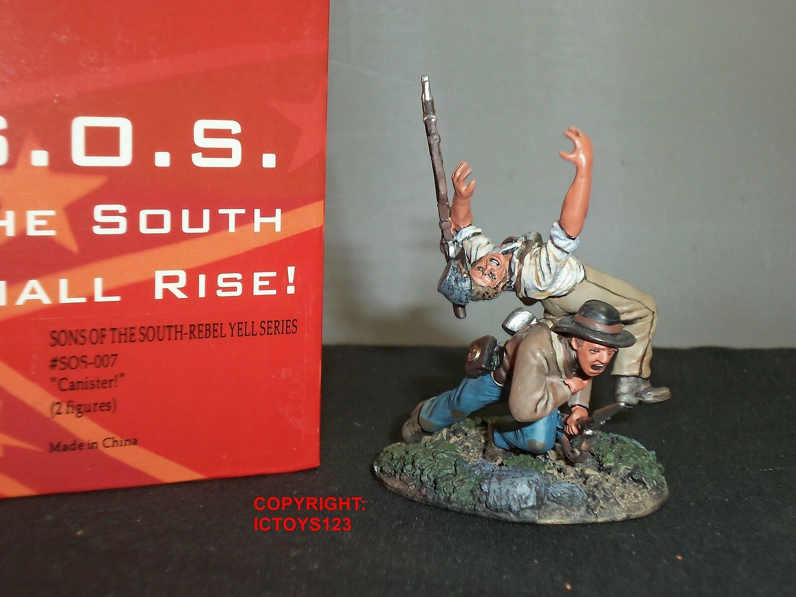CONTE SOS007 SONS OF THE SOUTH REBEL YELL SERIES CANISTER TOY SOLDIER FIGURE SET