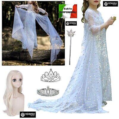 Frozen Simile 2 Vestito Carnevale Elsa Bianco Simil White Elsa Dress FROZ049