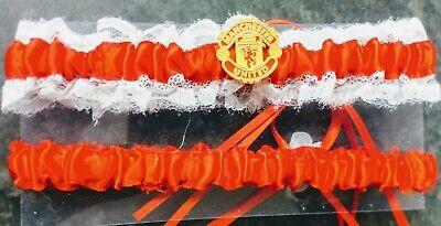 Analitico Nuovo Di Zecca Manchester United Uomo U Fc Nuziale Rosso Giarrettiera Football Club- Prezzo Di Vendita