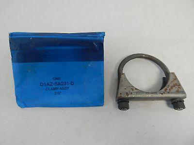 "NOS OEM Ford Lincoln Mercury 2/"" FORD Script Muffler Exhaust System U Bolt Clamp"