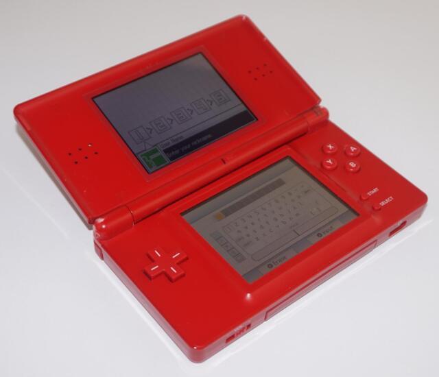 Nintendo DS Lite - USG-001 - Handheld Games Console - Red