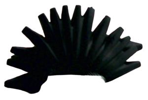 Lego 2 Stück Haare in schwarz Irokesenschnitt Mohikaner Punker Irokese 93563 Neu