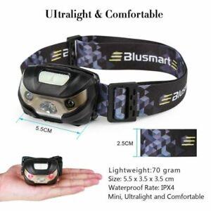 TORCIA-LUCE-LED-LAMPADA-FRONTALE-DA-TESTA-PER-CACCIA-PESCA-USB-RICARICABILE