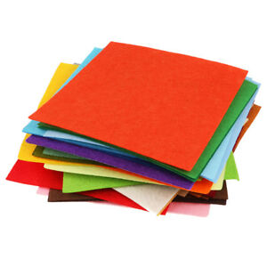 40pcs-Non-woven-Felt-Fabric-Sheets-Sewing-Scrapbook-Kids-Party-Decor-15x15cm