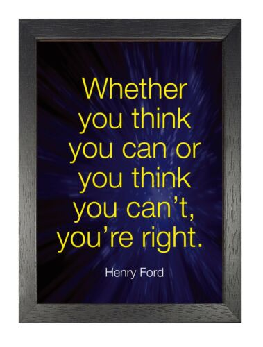 Motivation 39 Henry Ford Poster Think Change Dream Inspiration Quote Strong