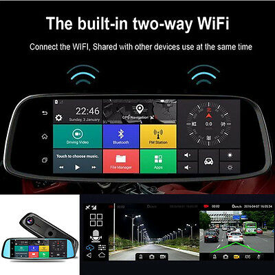 "Vehicle Electronics & Gps 8"" Hd 4g Touch Gps Bluetooth Wifi Dual Lens Dvr Car Video Recorder Dash Camera"