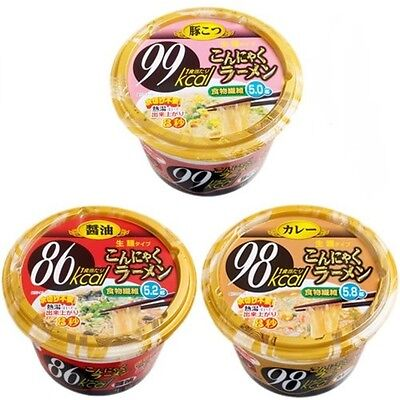 Healthy food Konjac Diet Ramen staple Cup 12 meals low-calorie noodles Japan b30