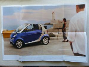 Poster 58x39cm Prospekt Brochure 09.1999 Diskret Smart Fortwo Cabrio