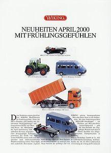 0001wik Wiking Nouveautés Prospectus 2000 4/00 Detaillant Automobile Modèle Voitures Model Cars