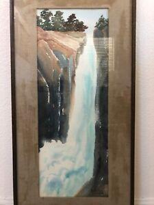 🔥 Antique California Plein Air Impressionist Painting, Eaton Falls Pasadena