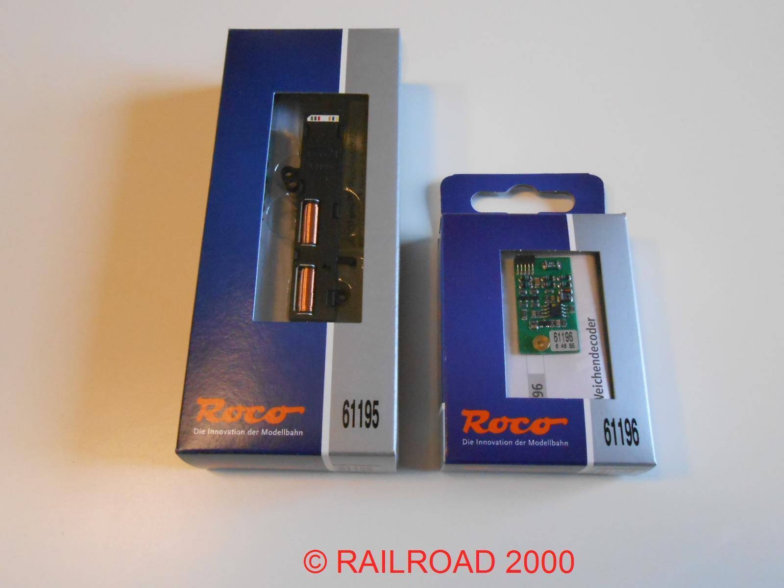 ROCO 61195 GEOLINE Universal morbido attacco + 61196 decoder, NUOVO + OVP