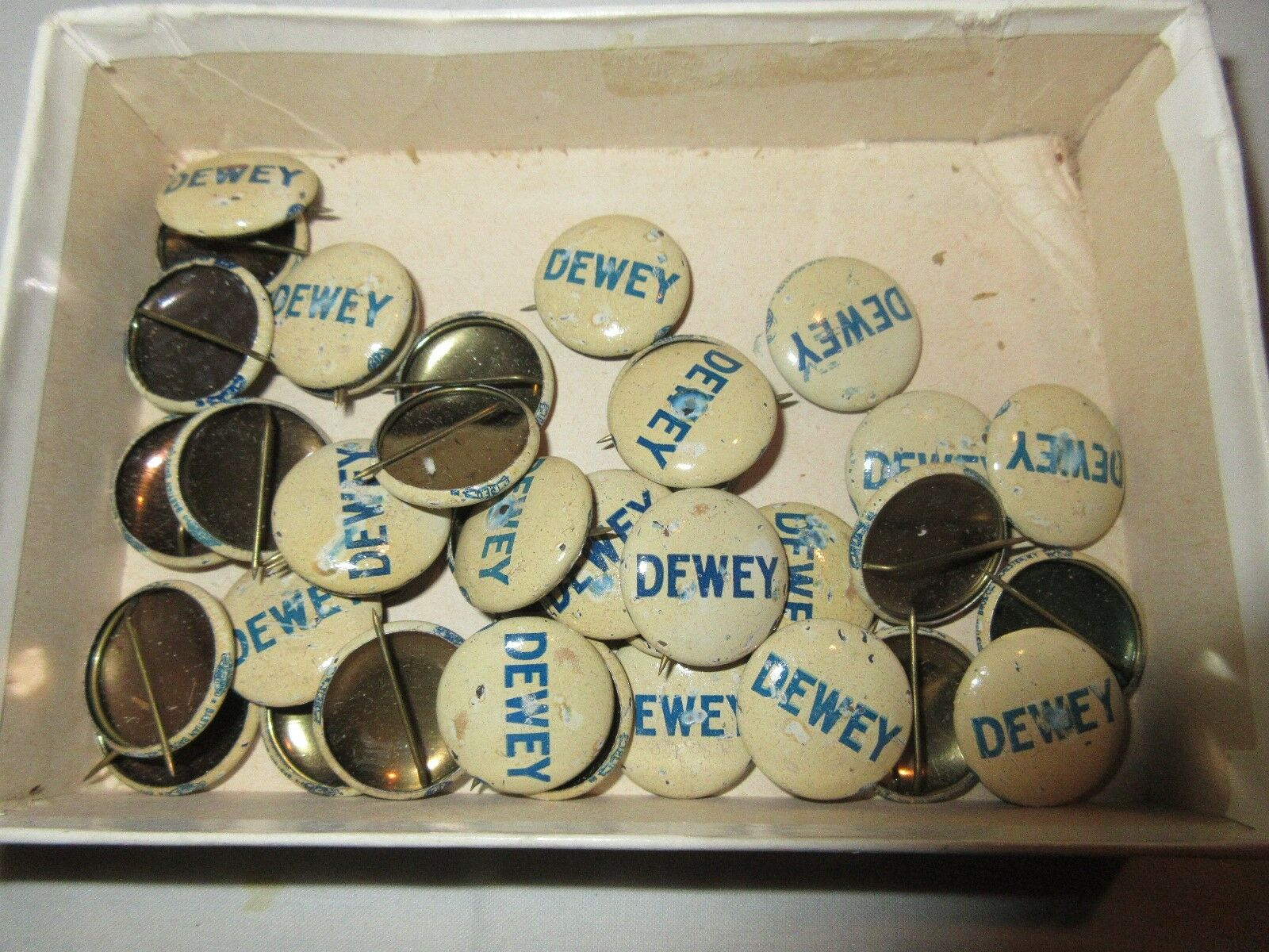 Pins , Antique , Dewey For President Pins , Collectible