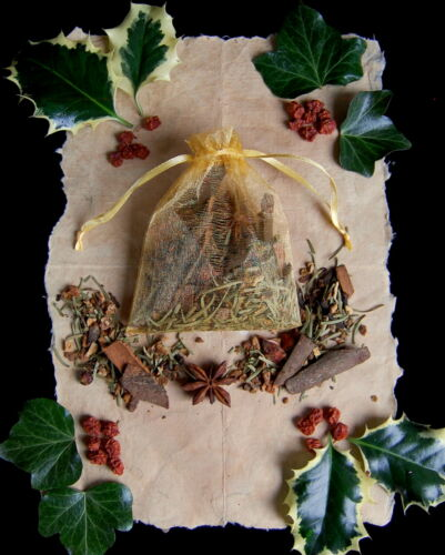 Yule Scented Sachet Altar Pagan Wicca Gift Xmas Decoration