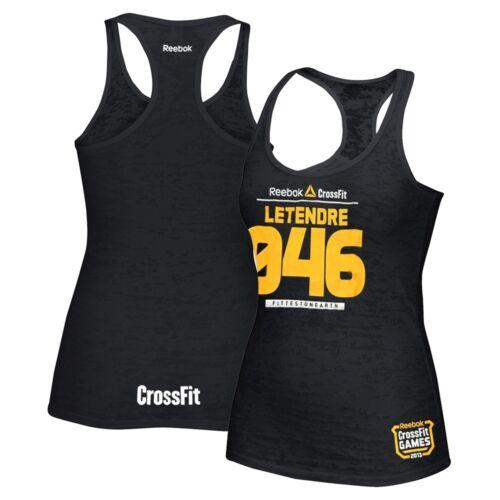Reebok CrossFit Games 2013 Michele Letendre 046 Women/'s Black Burnout Tank Top