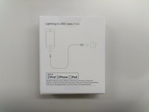 APPLE MFi Certified Usb Lightning Sync Charger Lead Cable iPhone iPad iPod