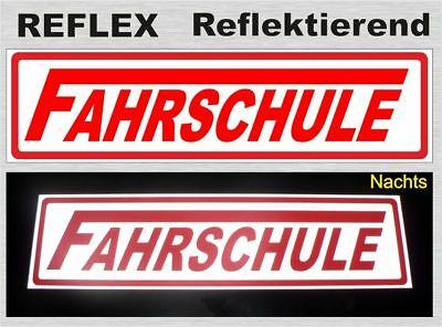"Business & Industrie Reflektierendes Magnetschild Motivated Fahrschule ""langes F"""