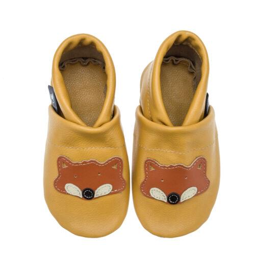Pantau enfants cuir amener du Lauflernschuhe des chaussons de bébé KRABBELSCHUHE Avec FUCHS