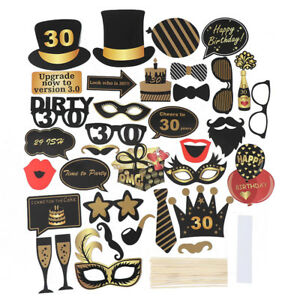 36pcs-Birthday-Party-Frame-Photo-Booth-Props-Party-Favor-Decor-21-30-40-50-60th