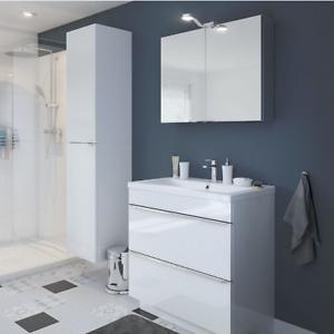 B Q Imandra Goodhome Gloss White Single Door Wall Cabinet Unit 40 X 90cm 3663602933434 Ebay