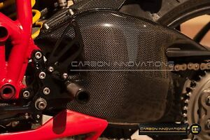 Ducati Carbon Fiber 848 1098 1198 S R Streetfighter Swingarm Guard