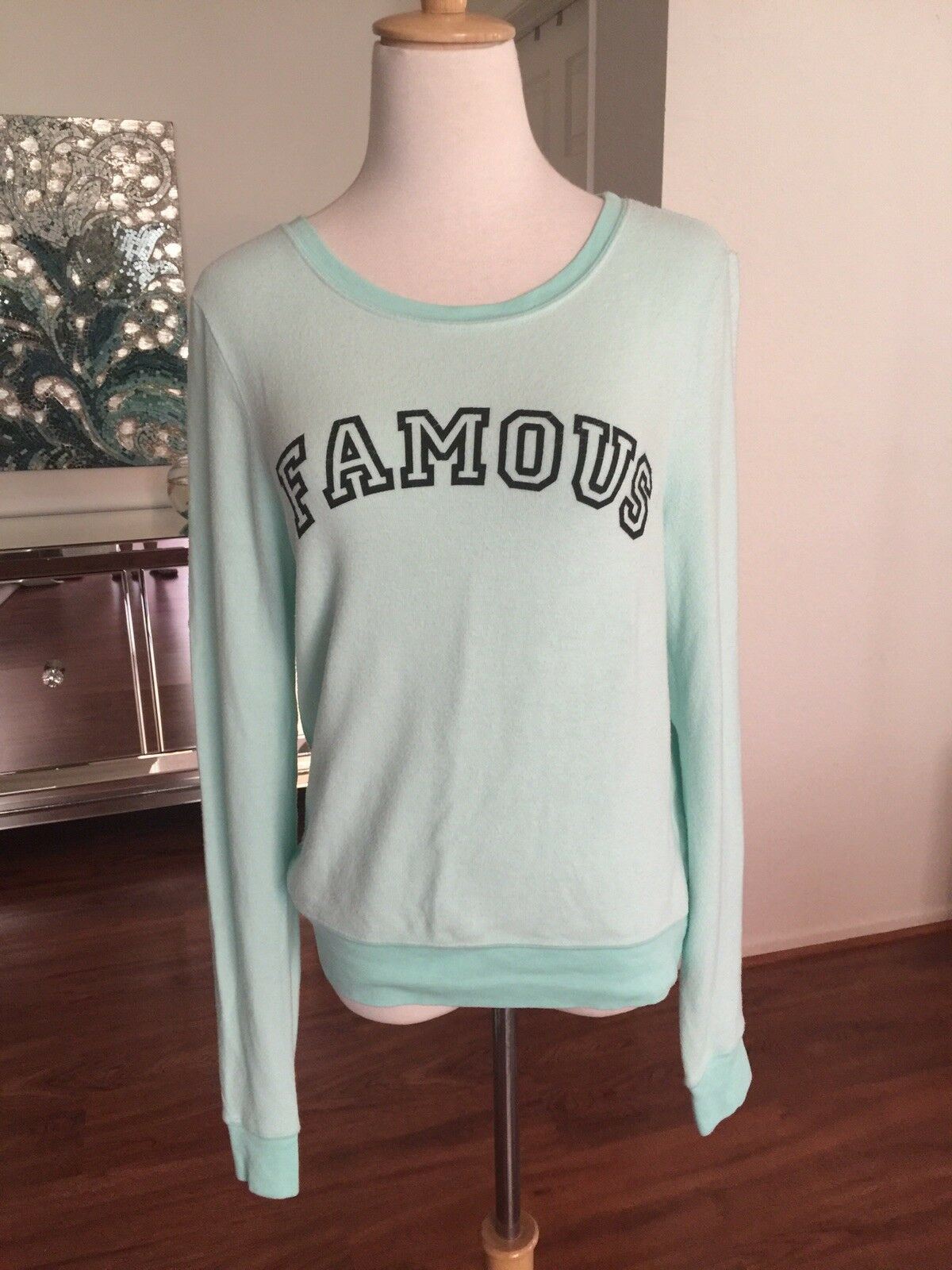 NWT Wildfox  Famous    Very Soft Sweatshirt Womens Size Medium SOLD OUT 5707a4