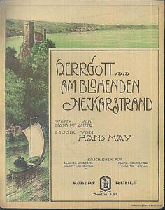 Hans-May-Herrgott-am-bluehenden-Neckarstrand-uebergrosse-alte-Noten