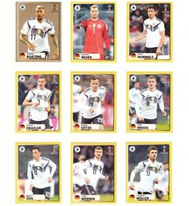 Panini-WM-2018-MCDonalds-komplett-Sticker-M1-M9-World-Cup-WC-18