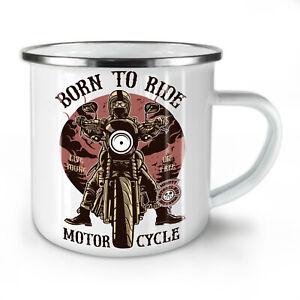 Born To Ride NEW Enamel Tea Mug 10 oz | Wellcoda