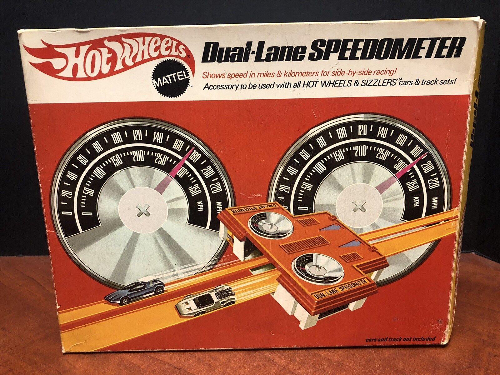 Hot Wheels Vintage 1969 Dual-Lane Speedometer With Box EM2694