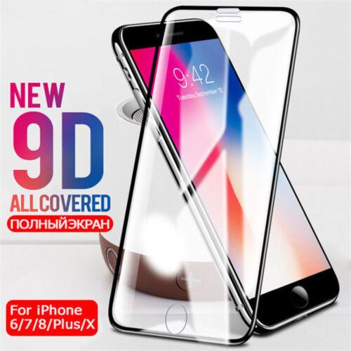 9D FULL COVER de borde Film Protector de Pantalla de Vidrio Templado para iPhone 8 Plus de 7 X 6