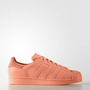 NEW adidas SUPERSTAR REFLECTIVE Peach Shoes s1 S80330 Sneakers Shelltoe sunglo