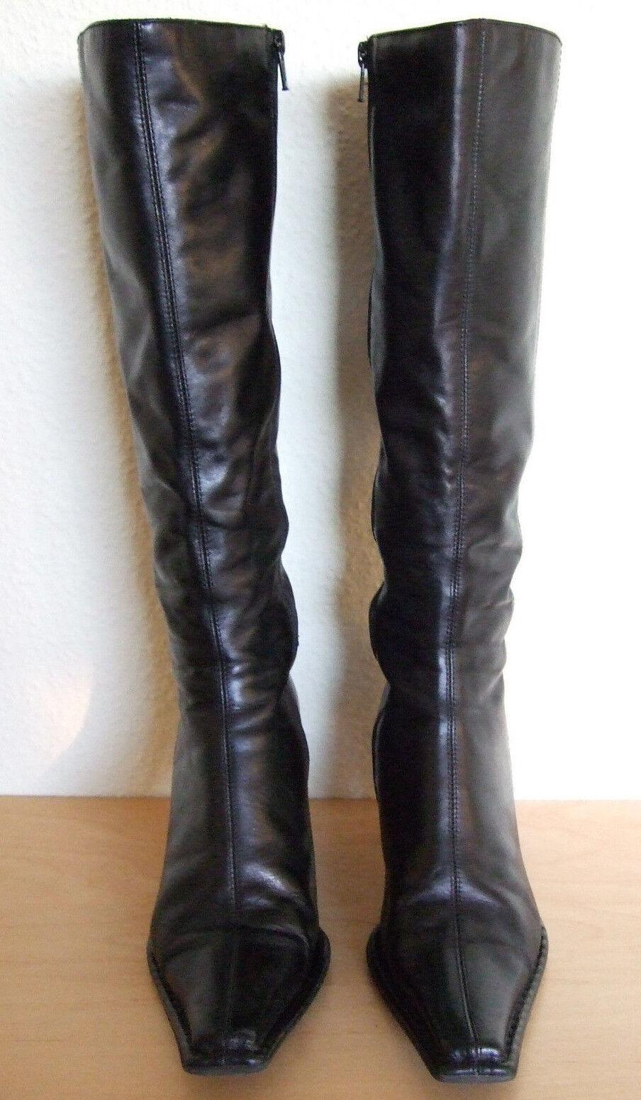 Damen Lederstiefel von Görtz Schuhes schwarz Gr.38