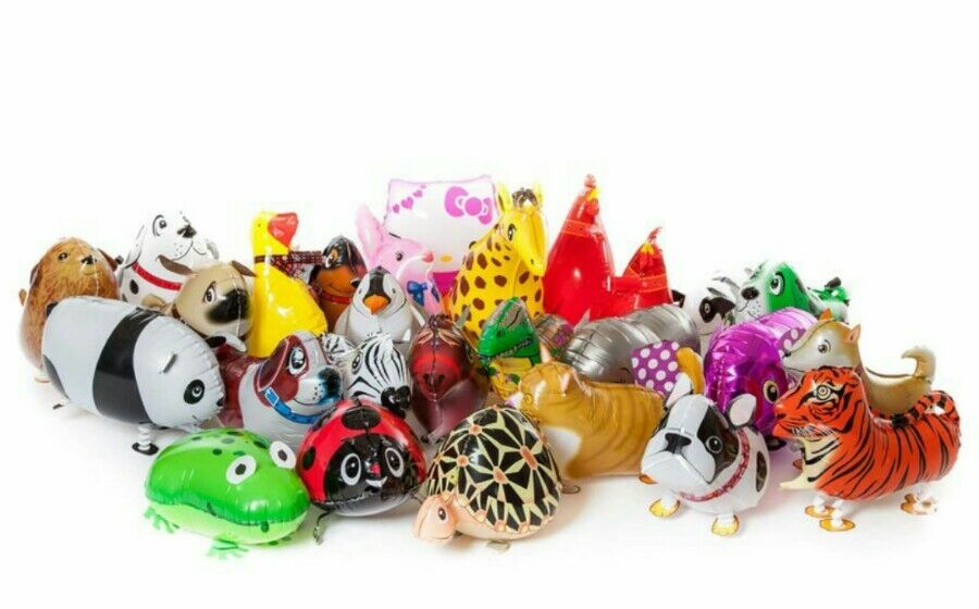Walking Pet Animaux Ballons x 500 de collecte de fonds mixtes joblots Wholesale