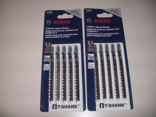 10 Piece Bosch T101D Jigsaw Blades 5-6 TPI High Carbon Steel T-Shank