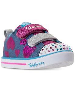 Skechers-Toddler-Girls-039-Twinkle-Toes-Sparkle-Lite-Flutter-Fab-Light-Up-Sneaker