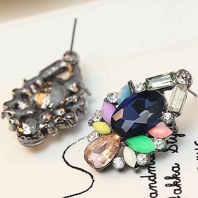 2016 New design women gorgeous bib statement  mixed crystal long Earrings e273