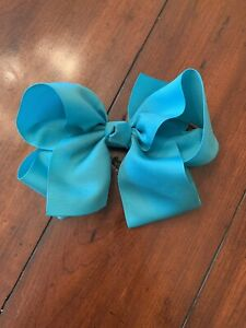 Ribbon Bow Hair Clip Ribbon Hair Bow Turquoise Bow Headband Girls Bow Hair Tie Turquoise Hair Bow Turquoise Pinwheel Bow Hair Clip