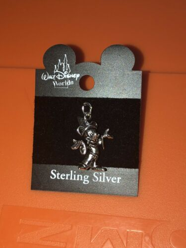 VTG Rare Walt Disney World Sterling Silver Sorcerer Mickey Mouse Charm MOC New