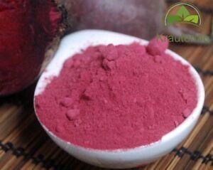 100g-1000g-Rote-Bete-Pulver-fein-gemahlen-Smoothie-Rot-Faerben-Farbe