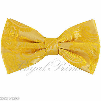 New Men Peach Micro Fiber Solid Butterfly Pretied Bow tie Wedding Formal Prom