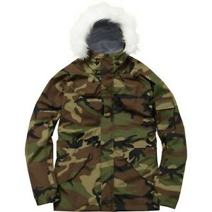 Supreme Military Taped Seam Parka Woodland Camo M Box Logo