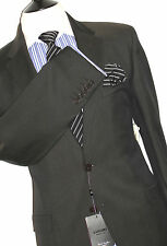 BNWT PAUL SMITH THE ABBEY DARK BROWN  SLIM FIT SUIT 44R W38