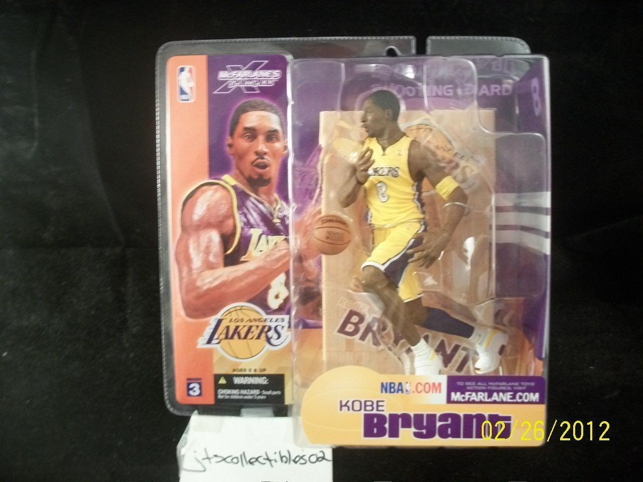 McFarlane NBA Series 3 KOBE BRYANT Variant Chase Figure Lakers giallo Jersey