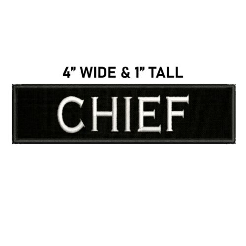 Chief Gaming Toon Embroidered Patch Iron Sew-On Gear Tag Applique