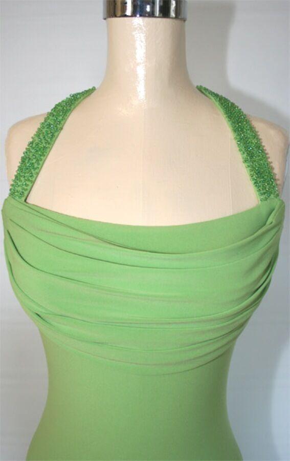 Windsor  Evening Prom Formal Cruise Gown Dress Größe 8 Long Avocado Junior
